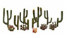 TR3600 (N/HO/O) Cactus Plants (13pcs.) (Model Train)