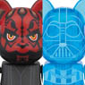 BE@RBRICK DARTH VADER (TM) (HOLOGRAPHIC Ver.) & DARTH MAUL (TM) 2 PACK (完成品)