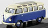 VW Type 2 1961 blue / white roof / gray sunroof (Diecast Car)