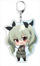 Girls und Panzer the Movie Puni Chara Big Key Ring Anchovy (Anime Toy)