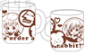 Gochumon wa Usagi Desu ka?? Latteart Water-repellent Mug Cup (Anime Toy)