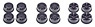Mini 4WD Carbon Reinforced Wheel Set (Low Profile) (Mini 4WD)