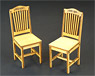 1/12 Retro Chair Set B 2 Pieces (Fashion Doll)