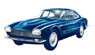 Maserati 5000 GT Bertone 1961 Metallic Blue (2 Front Lights) (Diecast Car)