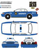 The Walking Dead (TV Series) Rick and Shane`s 2001 Ford Crown Victoria Police Interceptor (ミニカー)