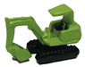 Small Size Power Shovel (Green) (Model Train)