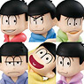 Palmate Petit Osomatsu-san Parka is Comfu! Series (Set of 6) (PVC Figure)
