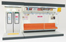 (1/12) Interior Model Series Commuter Train (Orange Seat Type) (Model Train)