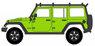 2013 Jeep Wrangler Unlimited - Moab Edition Gecko Green with Roof Rack (ミニカー)