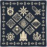 Monster Hunter XX Ethnic Pattern Cushion (The Wycademy & 4 Villages) (Anime Toy)
