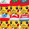Pokemon Plush Tiny Shoulder Ride Pikachu (set of 6) (Character Toy)