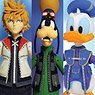 Kingdom Hearts II - Action Figure: Kingdom Hearts Select - Series 2: Roxas & Donald Duck & Goofy (Completed)