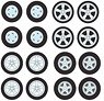 GL Muscle Wheel & Tire Pack - 16 Wheels, 16 Tires, 4 Axles (ミニカー)