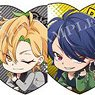 Hypnosismic -Division Rap Battle- Heart-shaped Glitter Acrylic Badge Vol.2 (Set of 6) (Anime Toy)