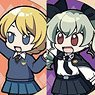 Girls und Panzer das Finale High Five Trading Can Badge (Set of 10) (Anime Toy)