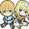 Sword Art Online Alicization Petanko Trading Rubber Strap (Set of 8) (Anime Toy)