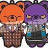Hypnosismic -Division Rap Battle- Kuma-gurumi Rubber Strap Vol.3 (Set of 6) (Anime Toy)
