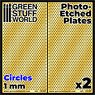 Photo-Etched Plates - Large Circles (Plastic model)