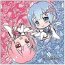 Re:Zero -Starting Life in Another World- Pop-up Character Square Can Badge Ram & Rem (Childhood) (Anime Toy)