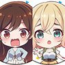Rent-A-Girlfriend Japanese Paper Style Can Badge (Set of 8) (Anime Toy)