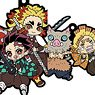Rubber Mascot Buddy-Colle Demon Slayer: Kimetsu no Yaiba Vol.4 (Set of 6) (Anime Toy)